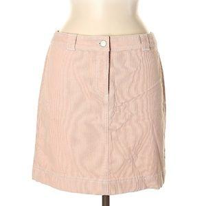 Ann Taylor Pale Pink Corduroy Skirt